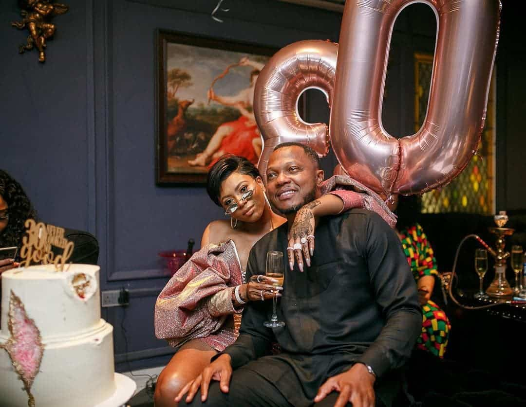 Photo of Olumide Aderinokun honors wife, Stephanie Coker with grand 30th birthday party