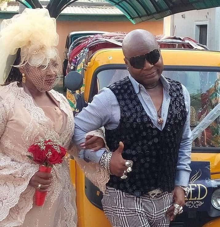 Photo of Charly Boy remarries his wife of 40 years, Lady Diane
