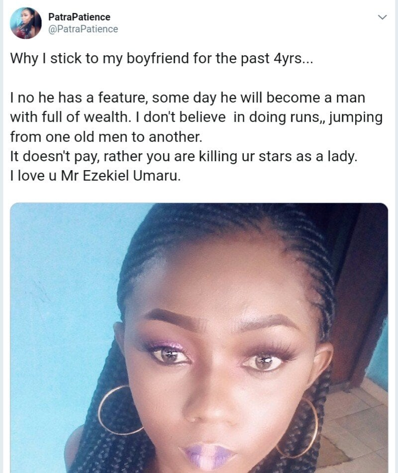 Photo of Lady gives reason why she hasn't dumped her boyfriend of 4 years for sugar daddies