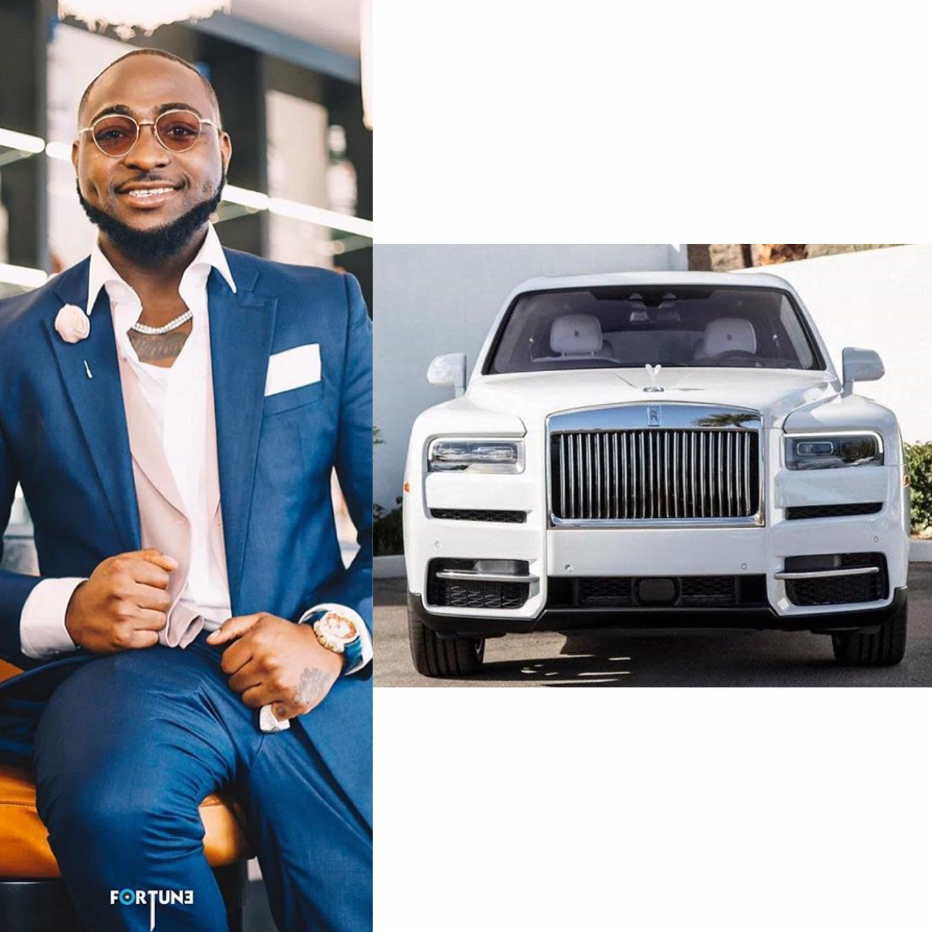 Photo of Davido shows off his Rolls Royce Cullinan 2019, set to move to Banana Island
