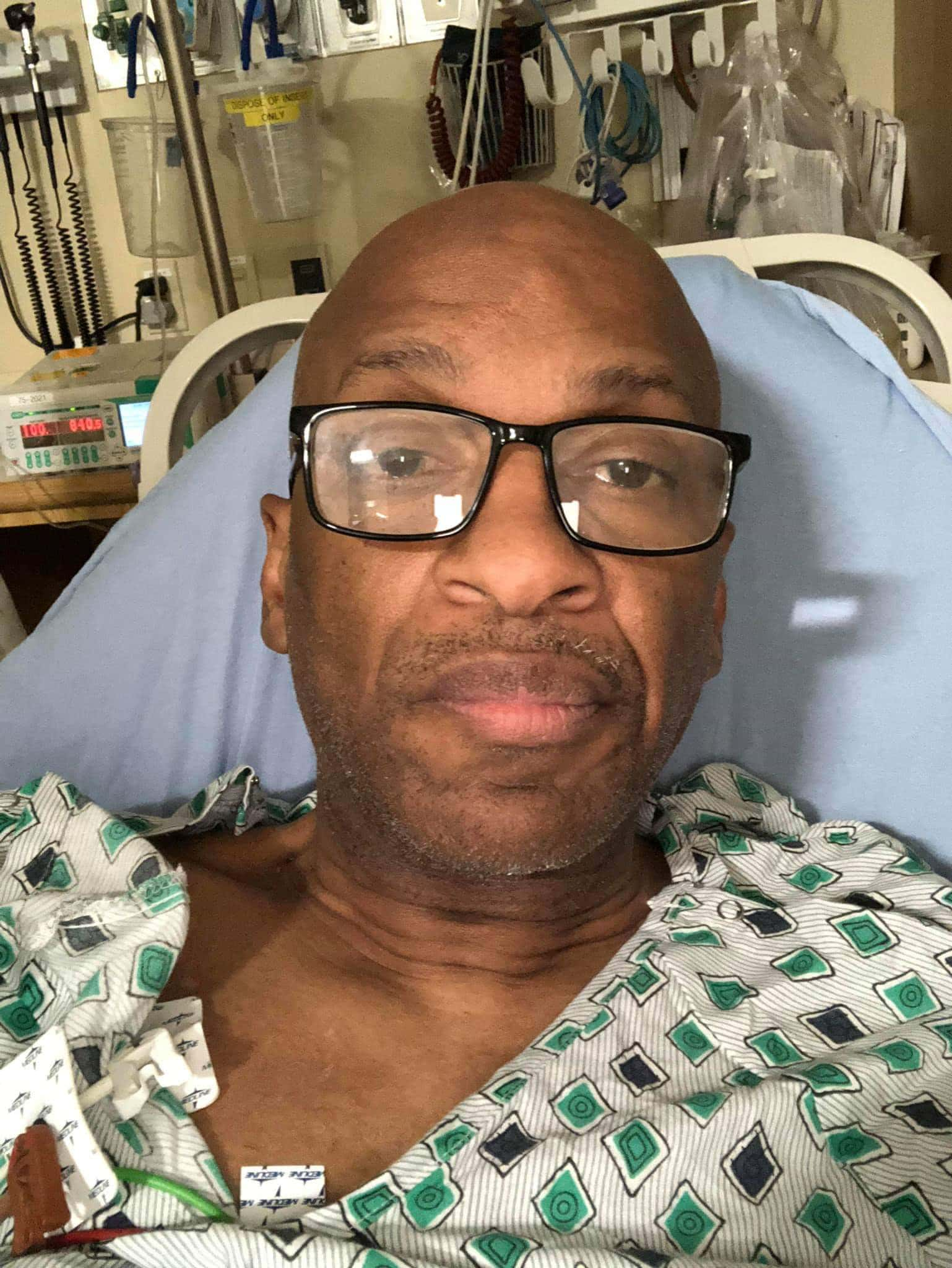 Photo of Donnie Mcclurkin saved by angels as he survives an accident