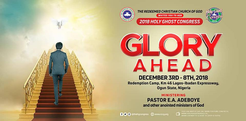 Photo of RCCG's Holy Ghost Congress themed 'Glory Ahead' to begin tomorrow
