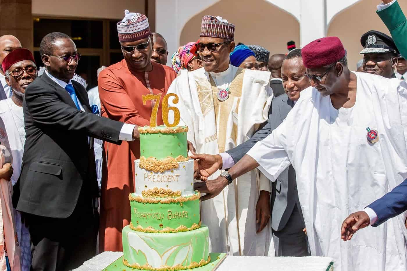 Photo of What President Buhari's Aides did to him on his 76th birthday (photos)