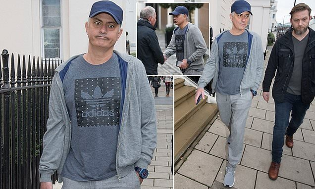 Photo of See how Jose Mourinho looked like after being sacked and seen on the street (Photos)
