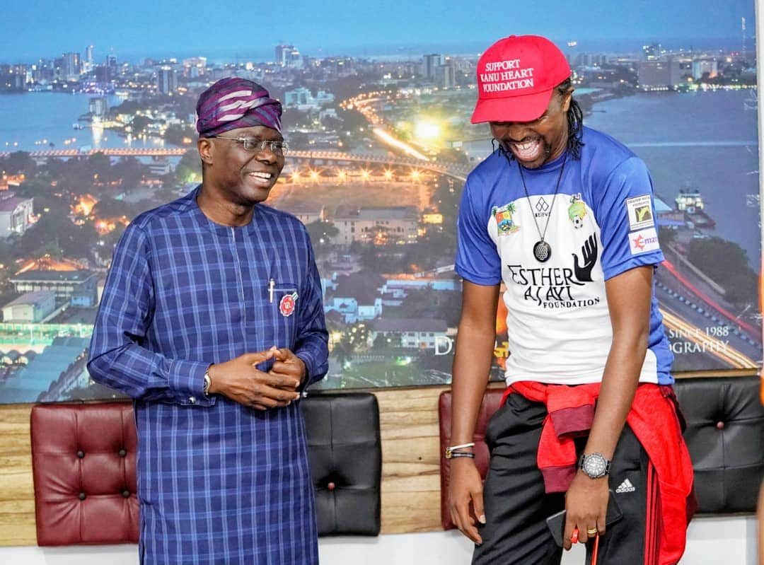 Photo of Why Nigerian football legend, Kanu Nwankwo paid Sanwo-Olu a visit