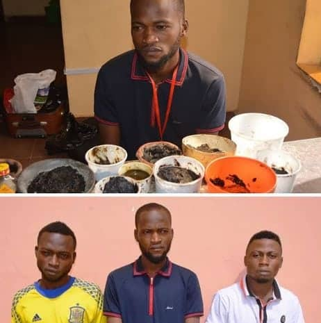 Photo of IGP team handovers three suspected internet fraudsters to EFCC