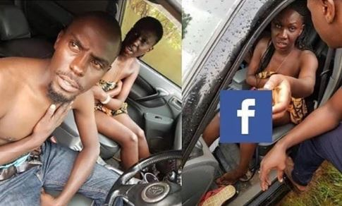 Photo of Couple caught having sex in a car, shamed by residents