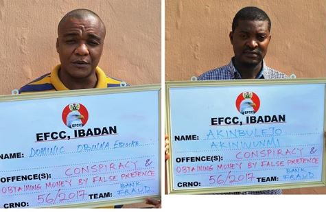 Photo of EFCC arraigns two internet fraudsters aka Yahoo boys (Photo)