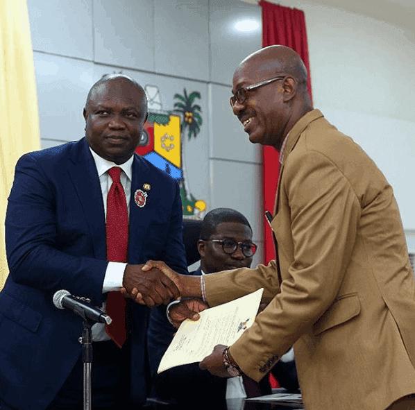 Photo of Adekunle Gold weeps as dad turns Permanent Secretary for Education