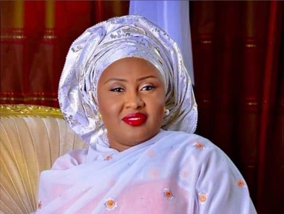 Photo of Aisha Buhari cries out, reveals the two men behind her husband's slow progress