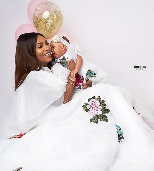 Photo of 52-year-old Lagos entrepreneur celebrates birthday after welcoming first child (Photos)