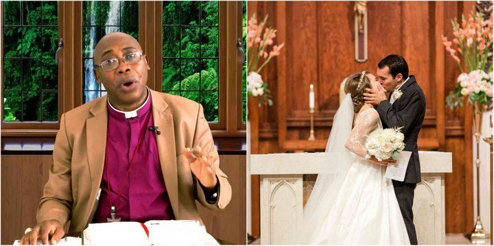 Photo of Anglican Bishop condemns and bans 'kissing a bride during church wedding'