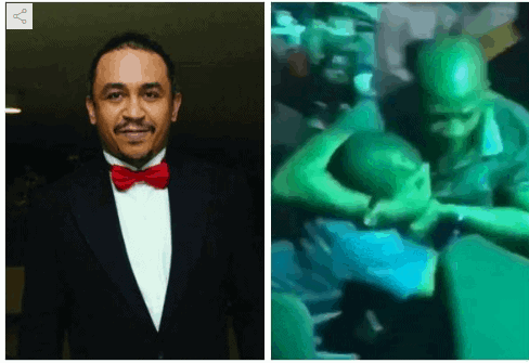 Photo of Daddy Freeze weighs in on viral video of two men fighting over a lady