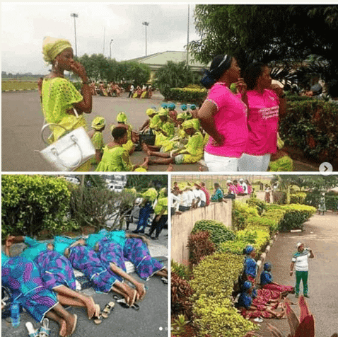 Photo of Rare photos of PDP female supporters lying by the roadside after rally (Photos)