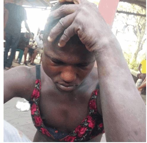 Photo of Man caught in Delta State after stealing bra and looking for panties to pick