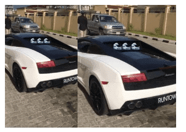 Photo of How Runtown's Lamborghini destroyed last night