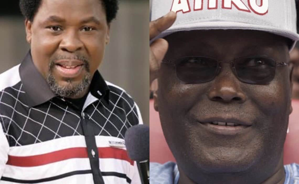 Photo of 2019 Prophecy: Prophet T.B Joshua and his prediction of Atiku's victory in upcoming election