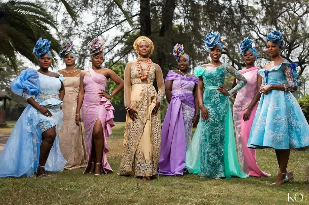 Photo of Chioma Akpotha, Kemi Lala Akindoju, Shaffy Bello, others grace celebrity stylist, Yolanda's wedding in style (photos)