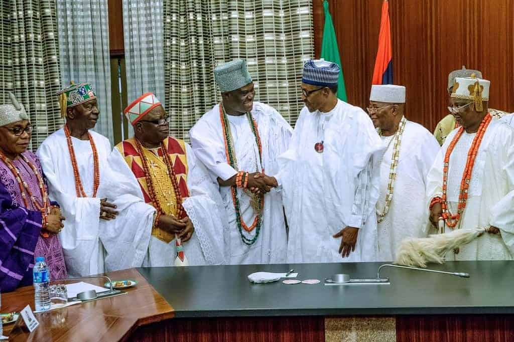 Photo of Buhari meets with Ooni of Ife and other SW traditional leaders (Pictures)