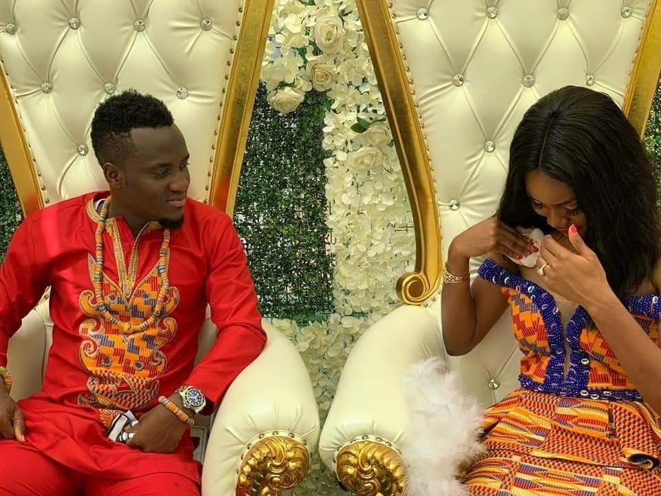 Photo of Football stars, David Accam and Florence Dadson wed in style (Photos)