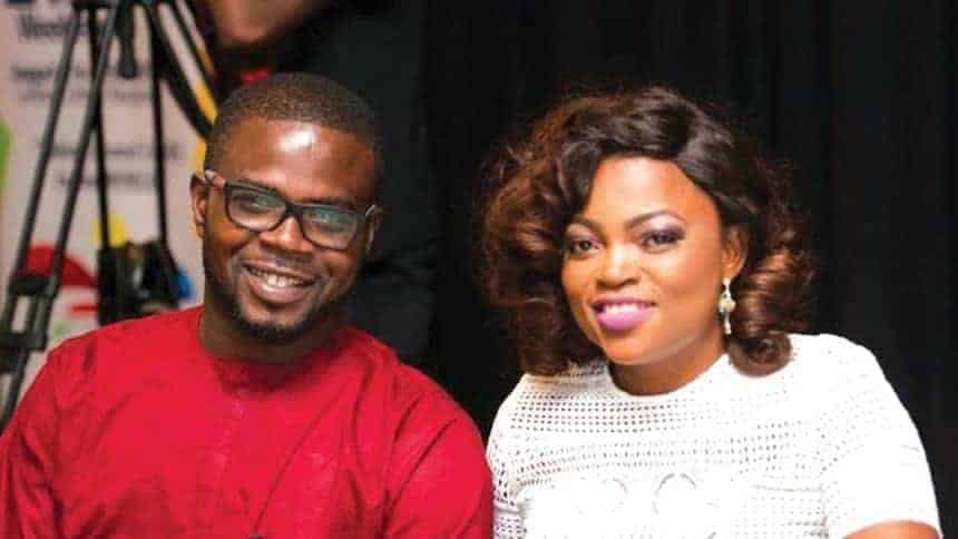 Photo of Funke Akindele's husband steps out with their twins