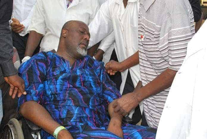 Photo of Dino Melaye speaks from police custody