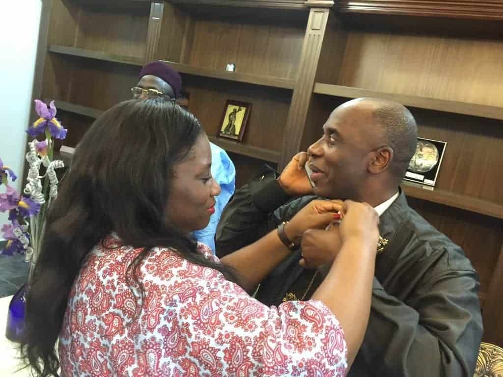 Photo of Rotimi Amaechi's wife goes spiritual as she reacts to leaked audios of her husband
