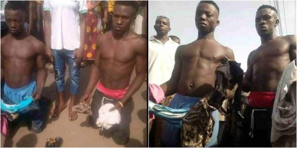 Photo of These two boys were caught with about 10 female pants in Delta