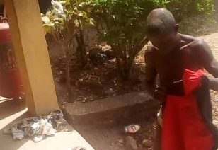 Photo of This man was caught with female pants and used sanitary pad in Ondo state (Photos)
