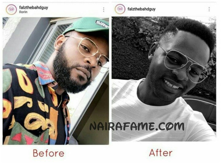 Photo of Falz shaves off his beard as he changes his look for 2019