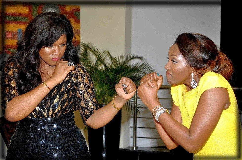Photo of Omotola fails to congratulate Genevieve Nnaji for Lionheart, lists her own achievements