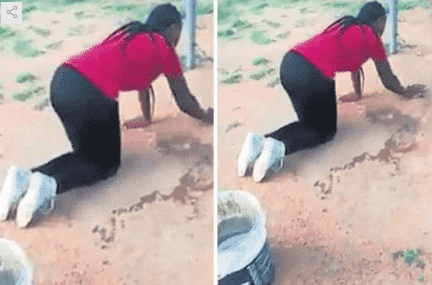Photo of Wife goes viral after forcing husband's lover to do house chores