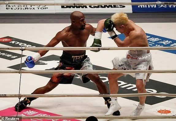 Photo of Mayweather pockets $9m as he defeats Japanese kick-boxer Tenshin Nasukawa