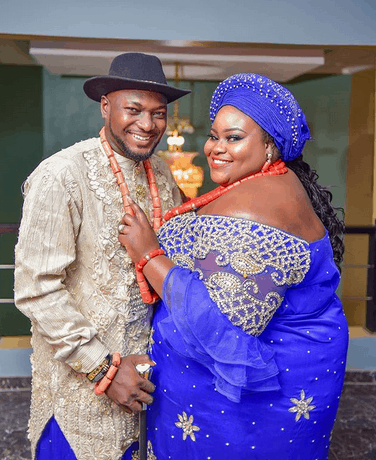 Photo of Nigerian couple melt hearts with their wedding pictures