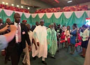 Photo of National peace accord signing: How Buhari and Atiku looked during the event