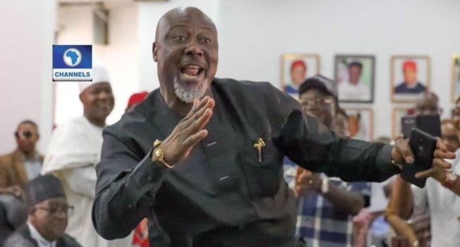 Photo of Dino Melaye dances as he criticizes Buhari's statement on ballot box snatchers (Photo)