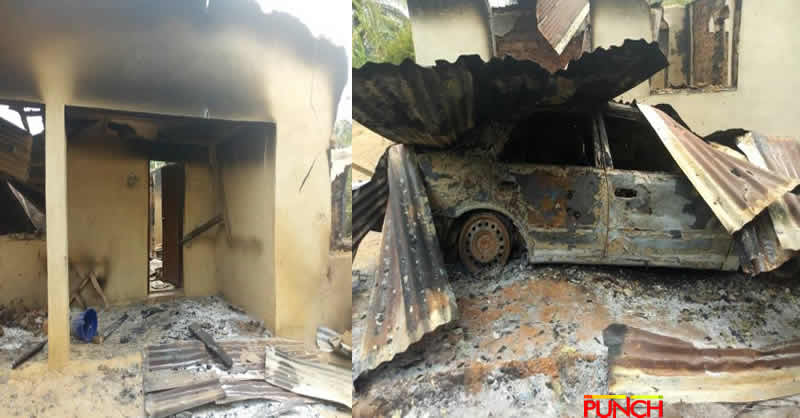 Photo of Suspected political thugs set buildings and cars ablaze in Osun village