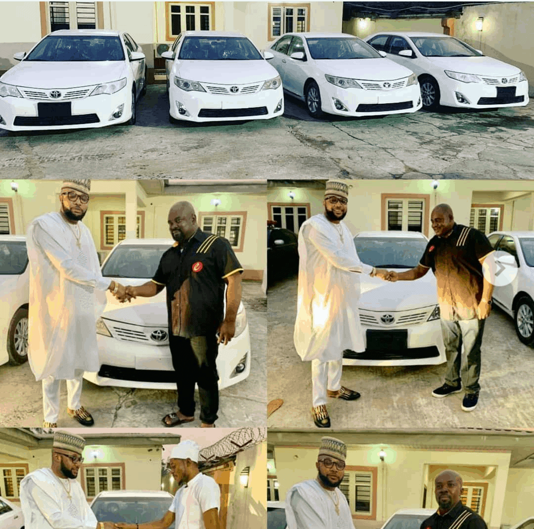 Photo of E-Money marks his birthday by giving out four Toyota cars