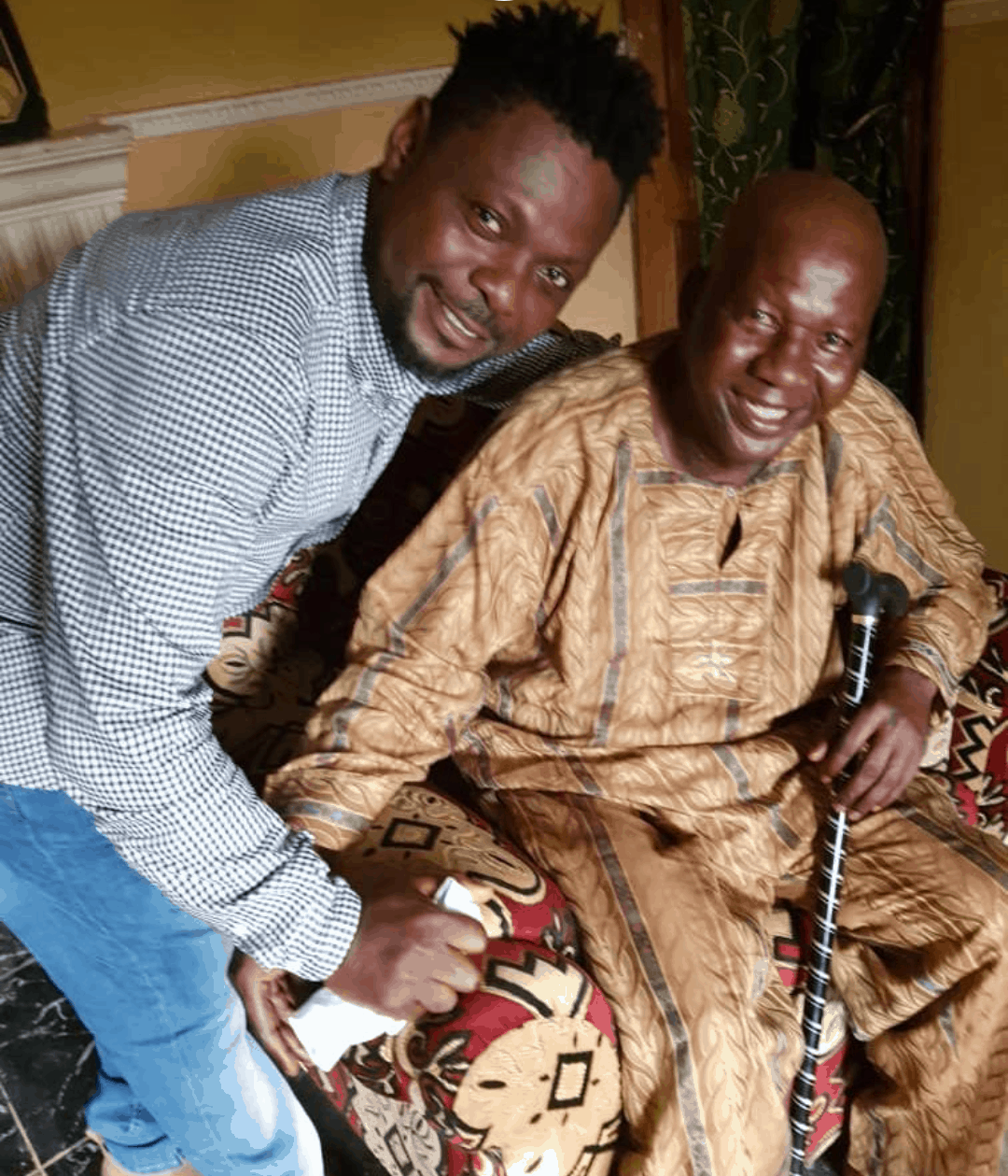 Photo of Kunle Afod shares photo to show Baba Suwe is in good spirit