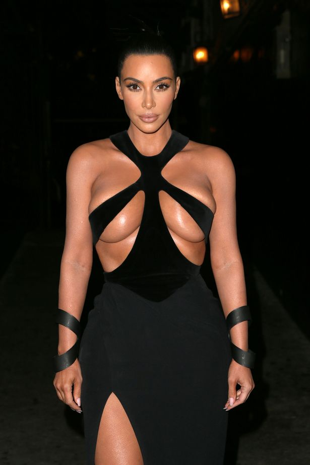 Photo of Kim Kardashian causes stir on social media rocking 'unique' bodycon' dress (Photos)