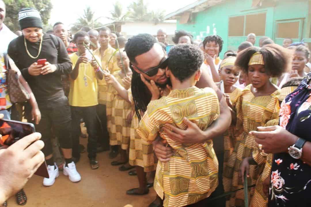 Photo of Flavour opens School for the blind in Liberia (photos)