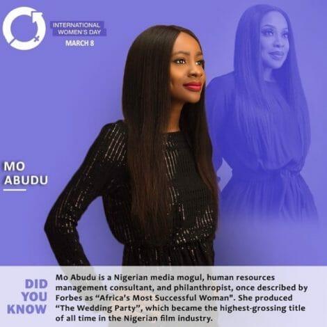 Mo Abudu, media mogul, human resources management consultant, and venture capitalist