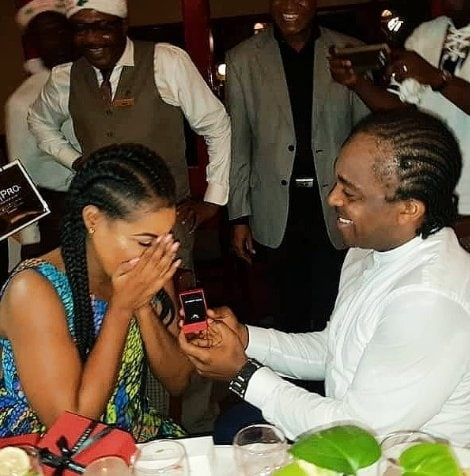 Photo of Laura Ikeji shares lovely throwback photo of when her husband proposed to her