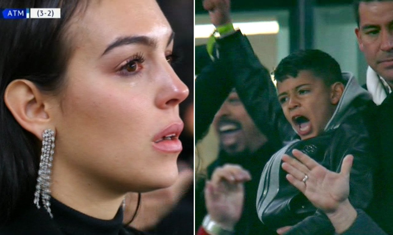Photo of The moment Cristiano Ronaldo's girlfriend, Georgina Rodriguez was in tears after his hat-trick (Photos)
