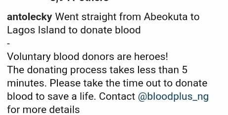 BBNaija's Anto donates blood