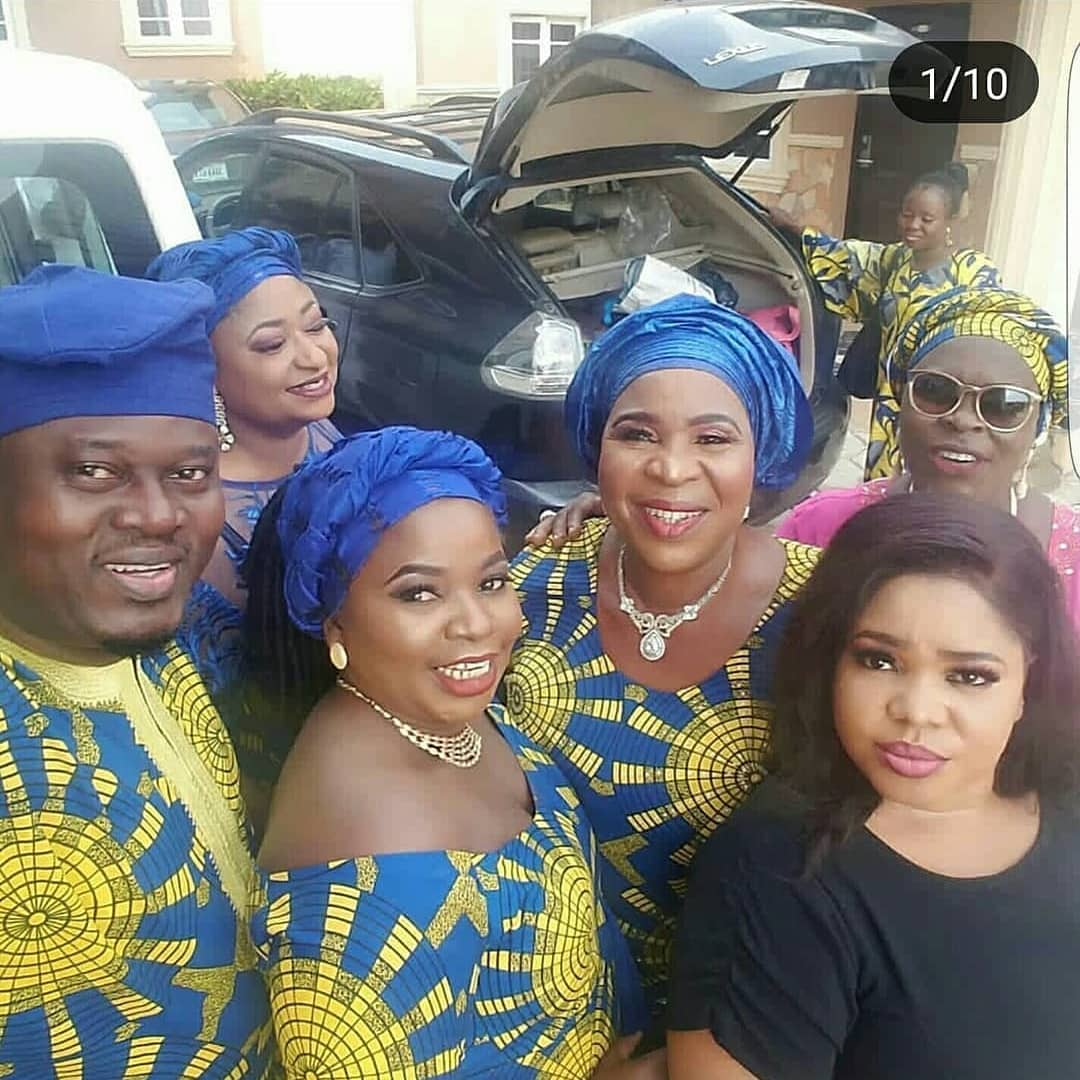 Photo of Nollywood actors storm the burial ceremony of actress Bukky Fagbuyi's father (Photos)