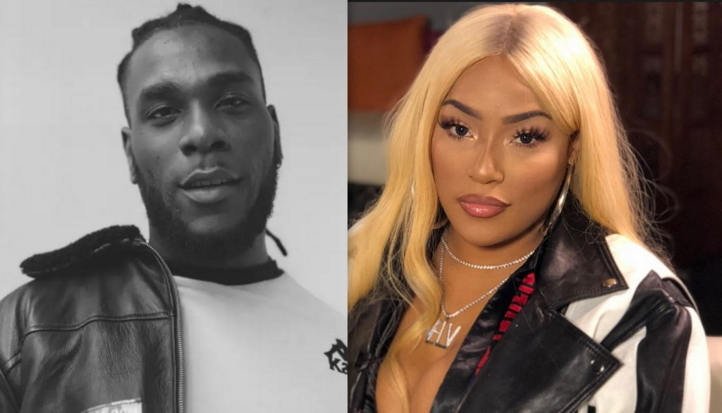 Stefflon Don shares photo with Burna Boy, they rock same outfit!