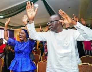 Babajide Sanwo-Olu celebrates his election victory as next governor of Lagos (Photos & Video)