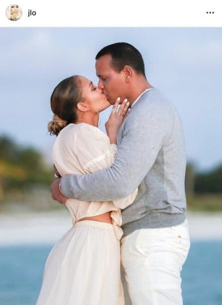 Photo of Moment when Alex Rodriguez proposed to Jennifer Lopez