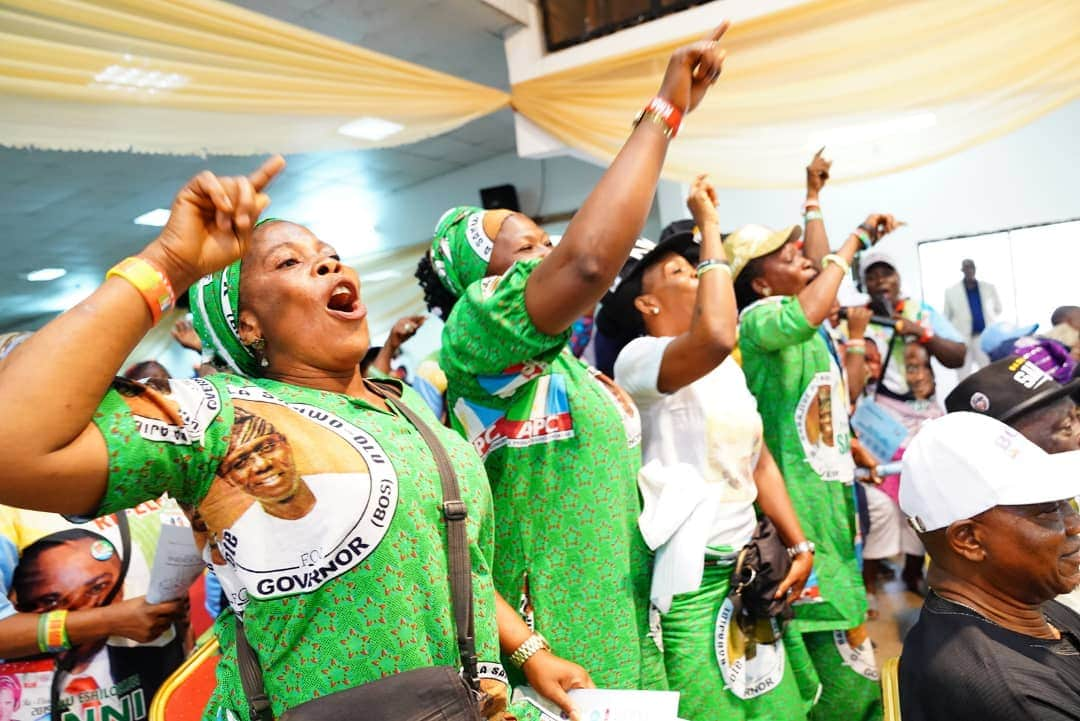 Photo of Women excited to see Sanwo-Olu on international women's day (Photos)